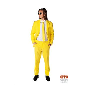 黄色の仲間の黄色スーツ ミスター イエロー Opposuit スリムライン プレミアム 3 ワンピース EU サイズ