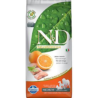 Farmina N&D Grain Free Adult Medium et Mini Poisson et Orange