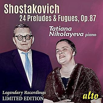 Tatiana Nikolayeva (Piano) - Shostakovich: 24 Preludes & Fugues Op. [CD] USA import