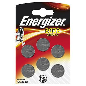 Energizer CR-2032 Lithium Coin Battery - Six Pack