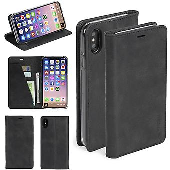 Krusell Sunne Leather Folio case for Apple iPhone X 5.8 leather case protector case black
