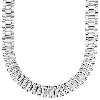 Iced out hip hop bling chain - LINK 15mm silver