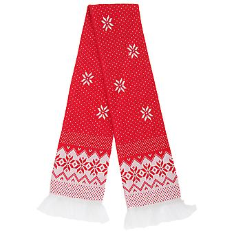 FLOSO Unisex Christmas Design Winter Scarf With Fringing