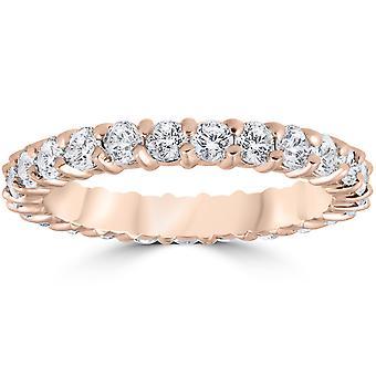 1ct Diamond Eternity Ring 14k Rose Gold