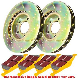 EBC Brake Kit - S5 Yellowstuff and GD Rotors S5KR1187 Fits:FORD  2007 - 2010 EX