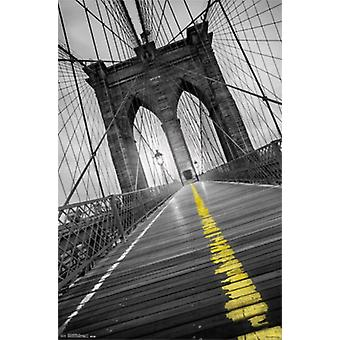 Brooklyn Bridge - Pop Poster Poster Print