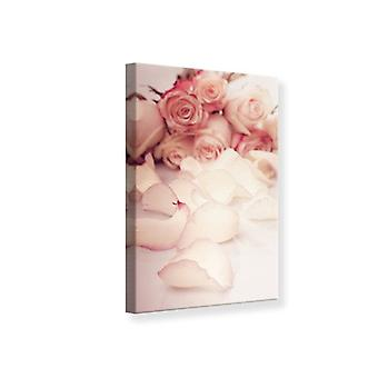 Kanvas Print bløde rosenblade