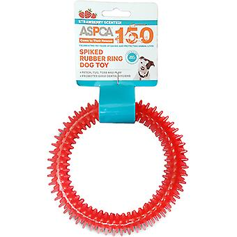 ASPCA Spiked Rubber Ring Dog Toy-Pink AS11126-PINK