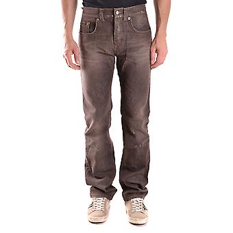 Costume national men's MCBI074078O Brown cotton of jeans