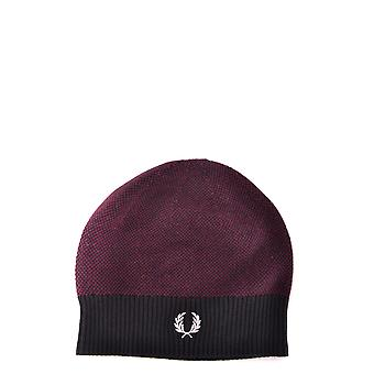 Fred Perry men's MCBI128222O purple wool hat