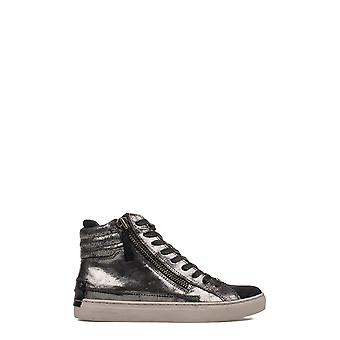 Kriminalitet London damer sølv/grå LEDER 25326A17B25 Hi Top sneakers