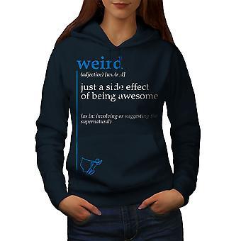 Weird Side Women NavyHoodie | Wellcoda