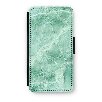 Huawei P9 Flip Case - Green marble