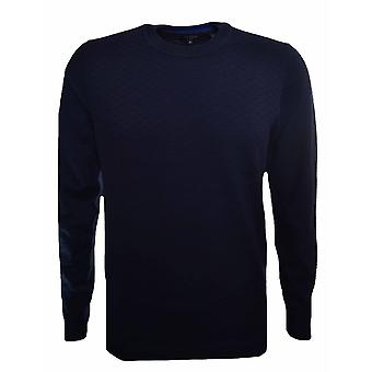 Ted Baker Men's Rettop Navy Blue Jumper