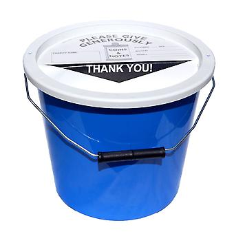 Charity Money Collection Bucket 5.7 Litres - Light Blue