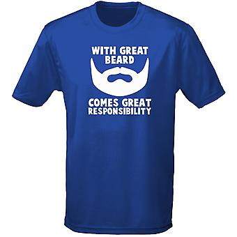 Great Beard Comes Great Responsability Mens T-Shirt 10 Colours (S-3XL) by swagwear