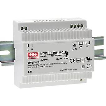 Carril montado PSU (DIN) significa pozo DR-100-12 12 Vdc 7.5 A 90 W 1 x