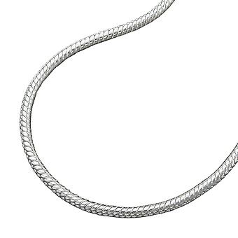 Ronde snake ketting 1.3mm zilver 925 ketting 45cm