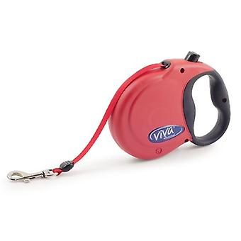 Red Viva 5m Retractable Lead - Small up to 20kg