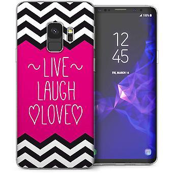 Samsung Galaxy S9 Live Laugh Love TPU Gel Case – roze