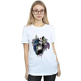 Disney Women's Villains Sketch Boyfriend Fit T-Shirt