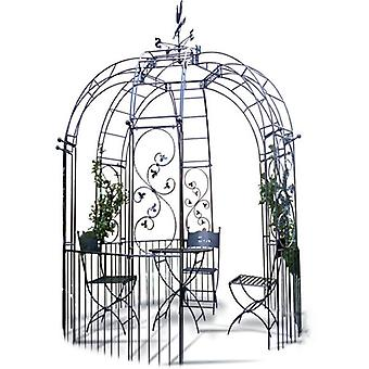 Poppy Forge Imperial 6 Sided Metal Gazebo With Side Panels