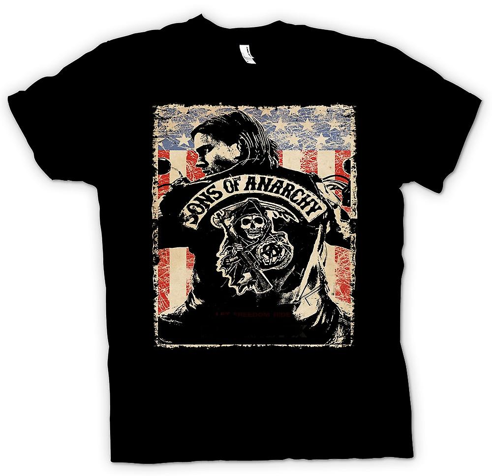 Mens T-shirt - Sons Of Anarchy - Biker Gang - TV Poster