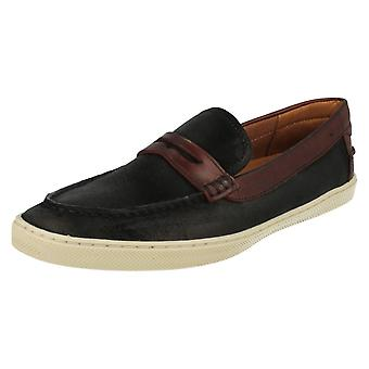 Men's Anatomic & Co Casual Slip On Shoes Lages 181813 Black/Burgundy Size UK6/39