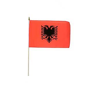 Albanien Hand winkend Flagge
