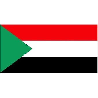 Sudans flagg 5 ft x 3 ft