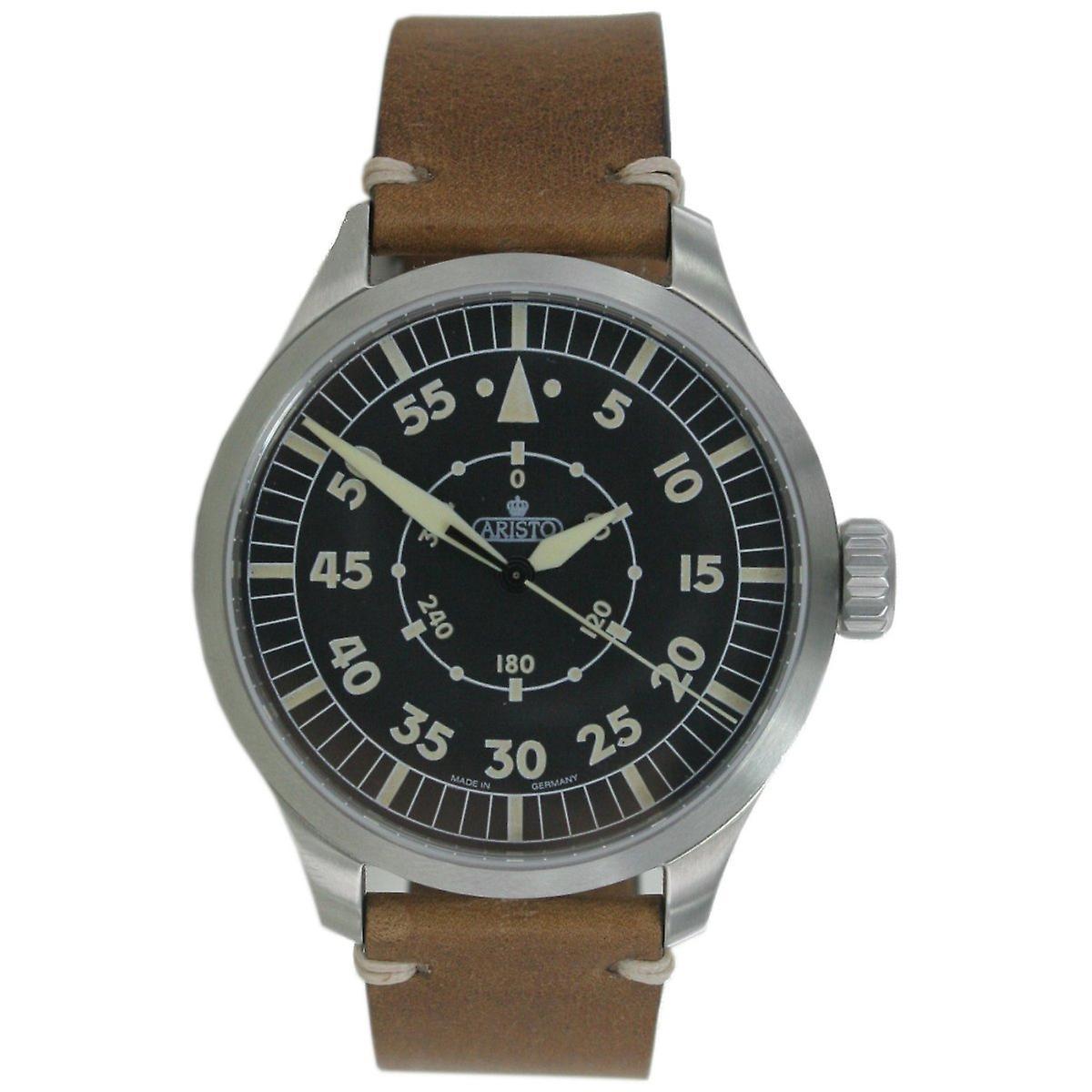 Aristo men's watch automatic Bracelet Watch 7 H 99 vintage 47 Navigator leather
