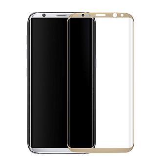 4D Premium 0,3 mm gebogenes Hart Glas Gold Folie für Samsung Galaxy Note 8 N950 F