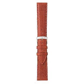 Morellato Strap Only - Ibiza Lizard Calf Brown/red 18mm A01X3266773041CR18 Watch