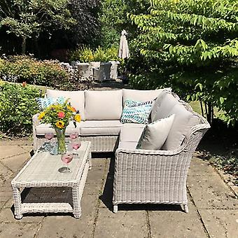 Royalcraft Seychelles Rattan Corner Lounging Set with Coffee Table