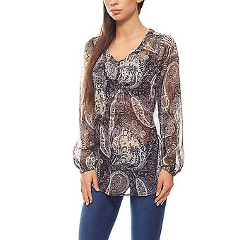 Tamaris Paisley slip blouse women's blue