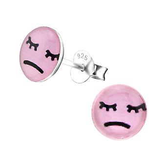 Disappointed - 925 Sterling Silver Colourful Ear Studs