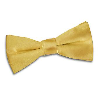 Gold Plain Satin Pre-Tied Bow Tie for Boys