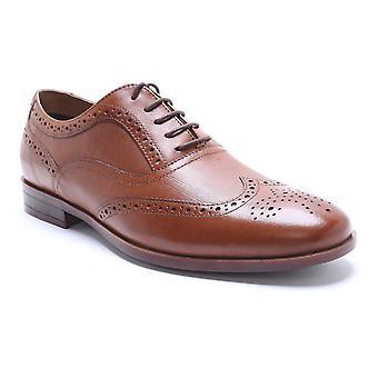 Chaussures habillées de ruban rouge cuir Tan Eastwell Brogue