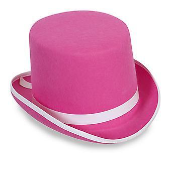 Cylinder Hat Pink Hat