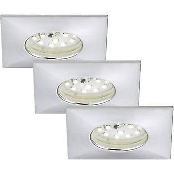 LED bathroom recessed light 3-piece set 15 W Warm white EEC: LED (A++ - E) Briloner 7205-039 Aluminium