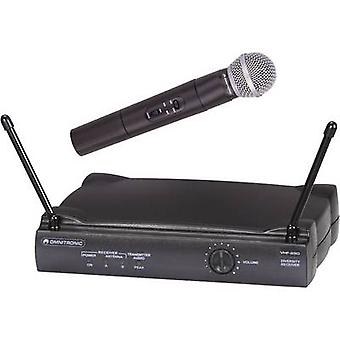Wireless microphone set Omnitronic VHF-250 Transfer type:Radio