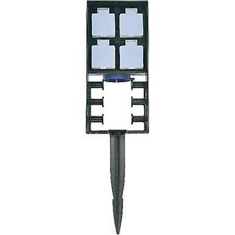 Oase 55433 全天候型ソケット ストリップ 4 x ブラック