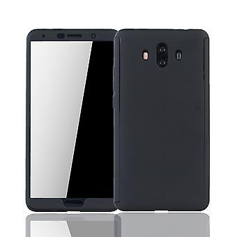 Huawei mate 10 mobiltelefon sag beskyttende tilfælde dække tank beskyttelse glas, sort