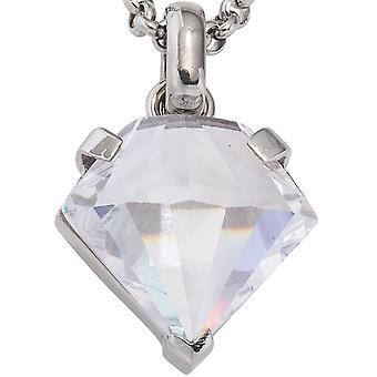 Necklaces Pendants diamond pendant in the form of diamonds in stainless steel with cubic zirconia