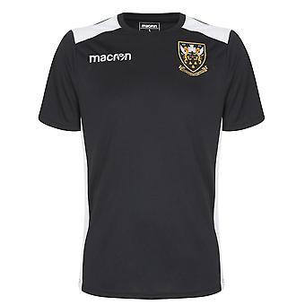 2018-2019 Northampton Saints Macron personnel Rugby Training Shirt (Black)