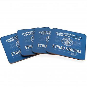 Manchester City 4pk Coaster Set