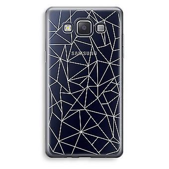Samsung Galaxy A5 (2015) Transparent Case (Soft) - Geometric lines white