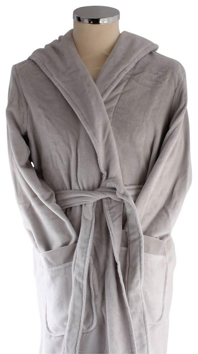 Bown of London Azealia Luxury Long Dressing Gown - Lilac Grey