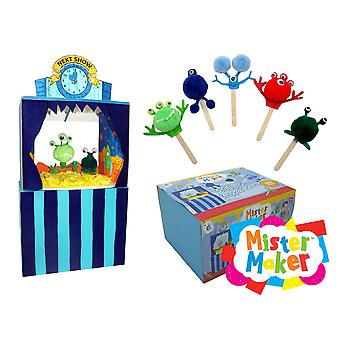 Mister Maker 3D Alien Puppet Show Kids Craft Gift Set | Outer Space Crafts