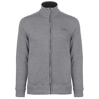 Pierre Cardin Herre Full Zip stof Sweater Jumper Pullover langærmet høj hals
